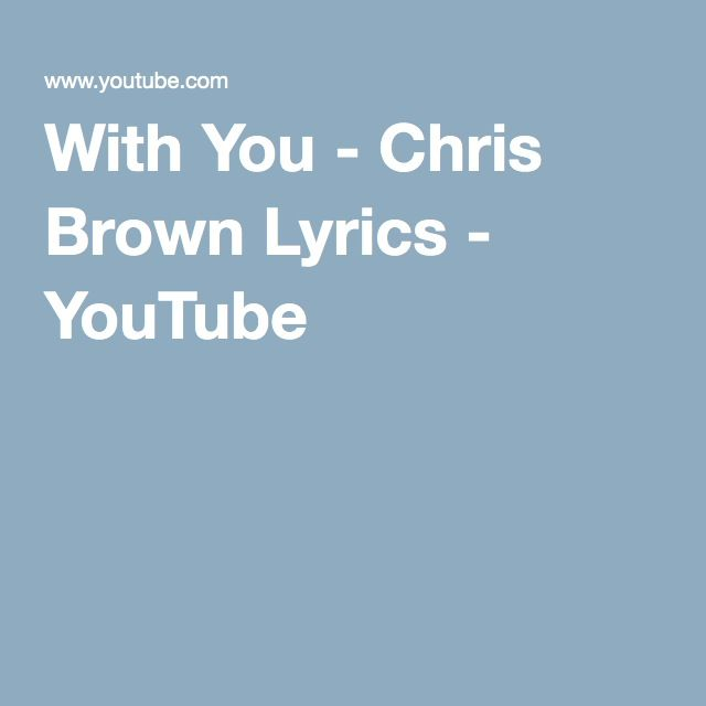 Madison : Next to you chris brown lyrics youtube