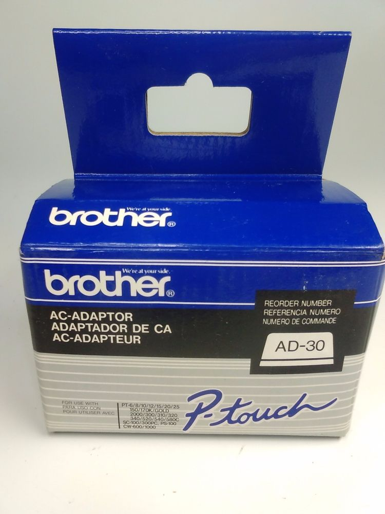 Brother AC-Adaptor P-Touch Model AD-30 New OEM #Brother