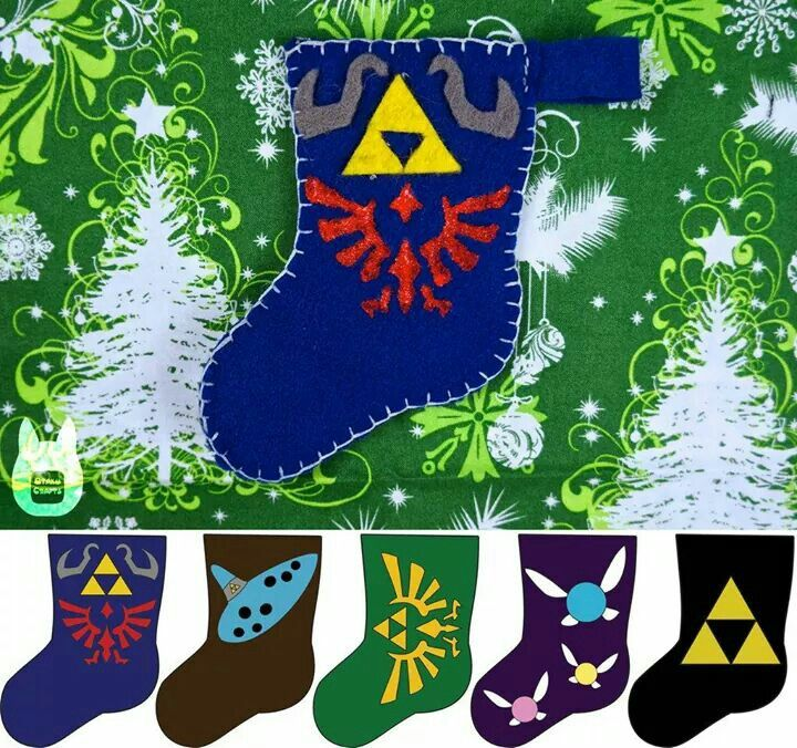 made to order Christmas Stocking Inspired by Legend of Zelda  Link