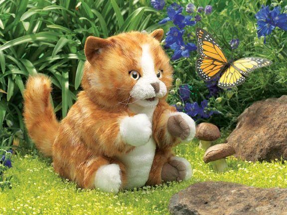 Orange Tabby Kitten Puppet