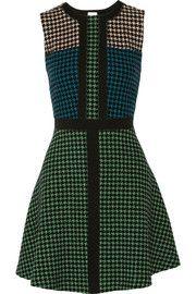 M MissoniHoundstooth fleece wool-blend mini dress