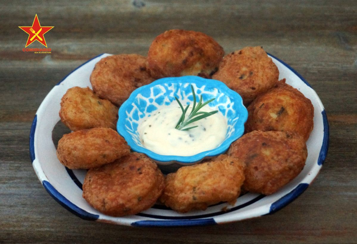 Buñuelos De Patata Con Salmón Y Alga Nori Recetas De Comida Alga Nori Salmon