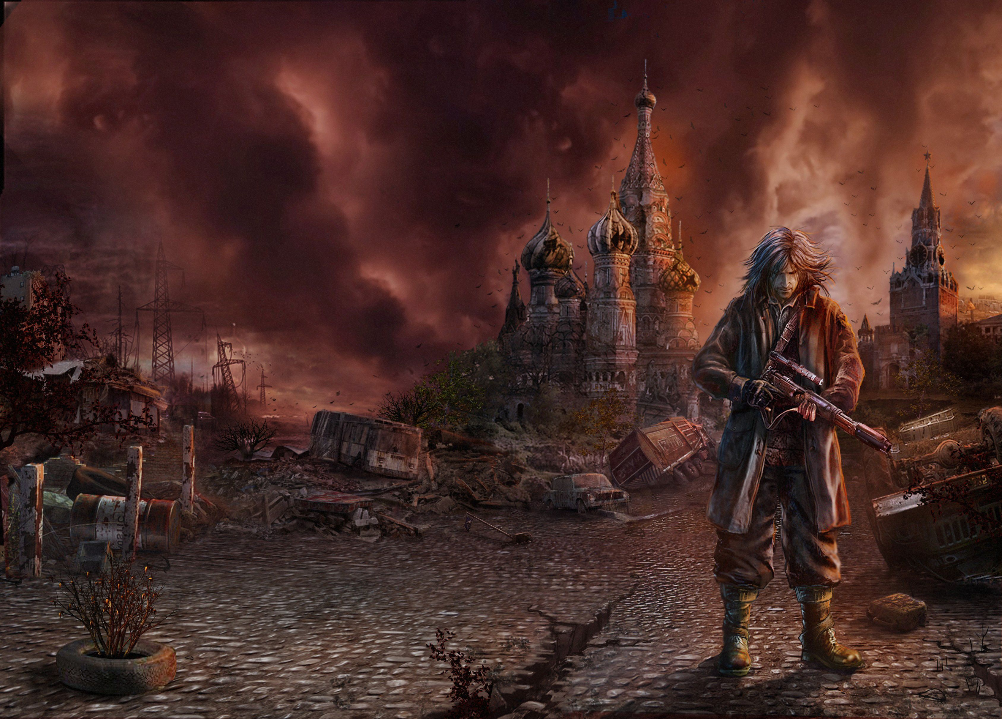 Apocalyptic Moscow Man Warriors Fantasy Prince Persia Sci Fi Wallpaper Background Post Apocalyptic Fantasy City Sci Fi Wallpaper