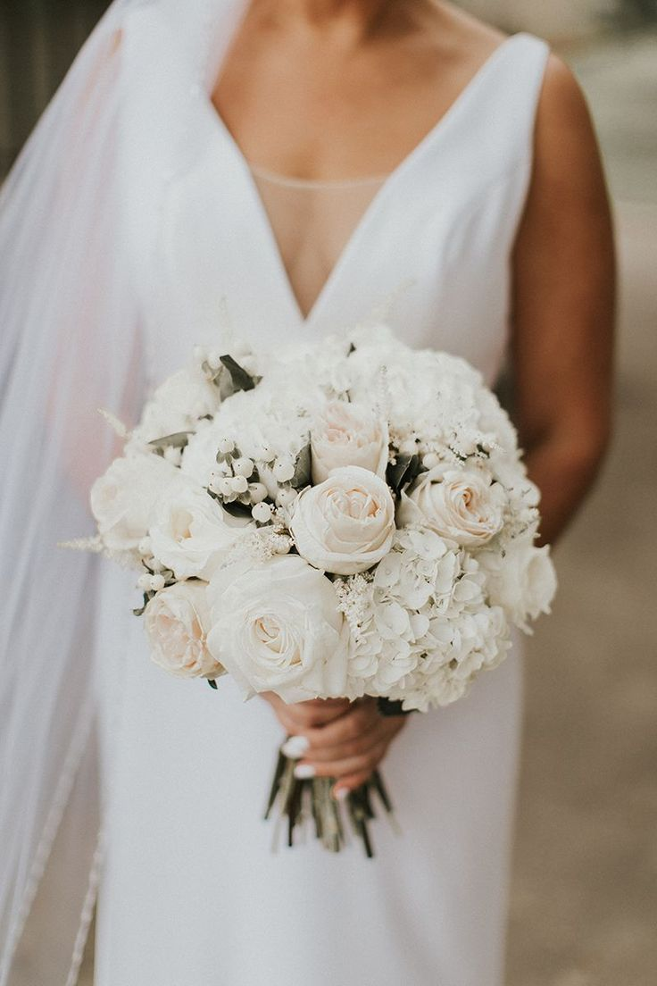 All-White Bridal Bouquet + Style 2268 by Casablanca Bridal | Top 10 Best Wedding...
