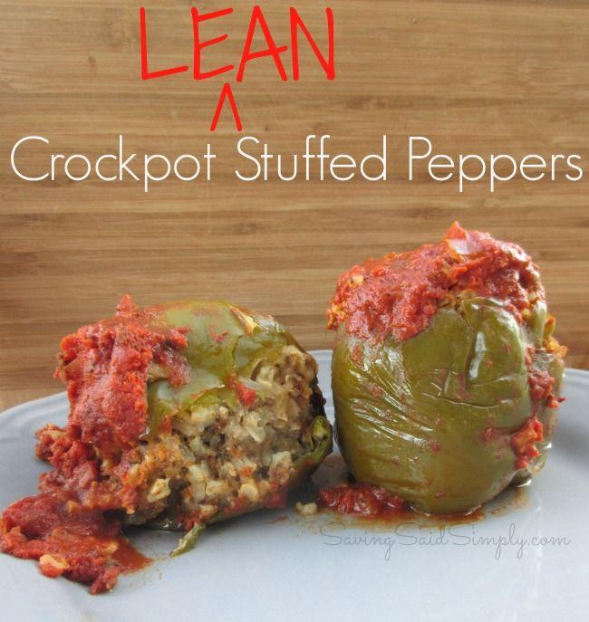 Easy Crockpot Lean Stuffed Peppers Recipe - Raising Whasians