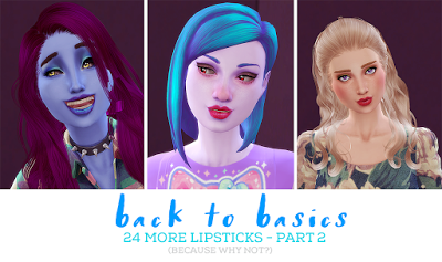 My Sims 4 Blog: Back to Basics Lipsticks Part 2 by PixelPandemoniu...