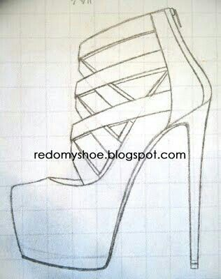 hot sale online 9c816 aa53d Como dibujar un zapato  tacones