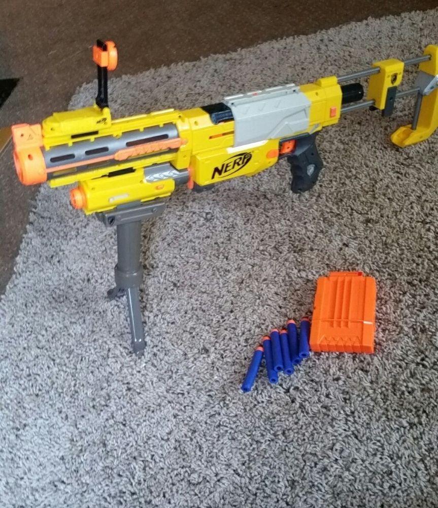 Nerf N Strike Recon CS-6 Dart Blaster Gun + Scope Laser Clip