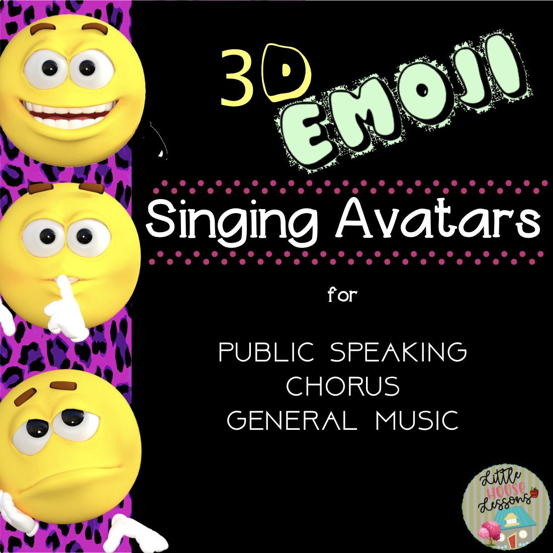Back to School 3D Emoji Avatar Singing Posters #howtosing