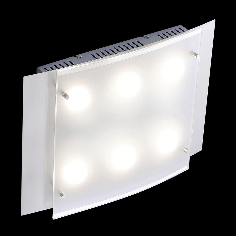 Https Lampen Led Shop De Lampen Rechteckige Deckenleuchte In Mattnickel Mit Sechs Lichtquellen Led Deckenleuchte Led Leuchtmittel Led