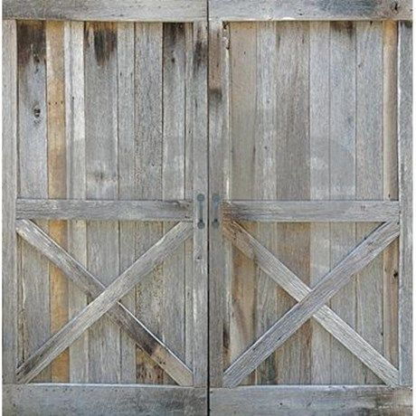 old rustic barn door shower curtain by