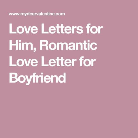 romantic love letters to him
