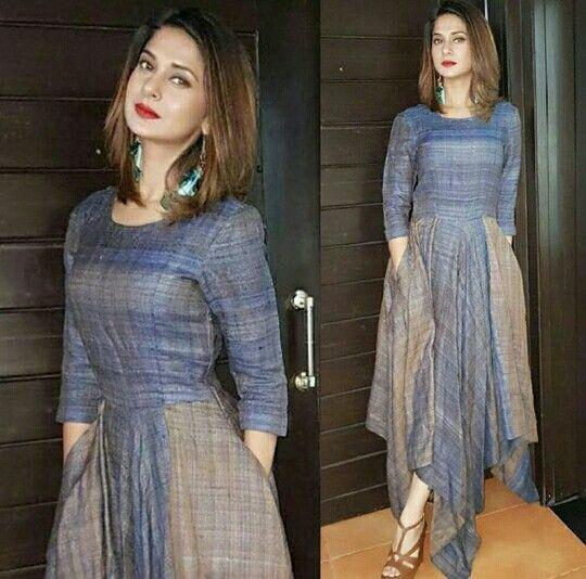 Jennifer Winget in pastel   Indian designer outfits, Frock ...