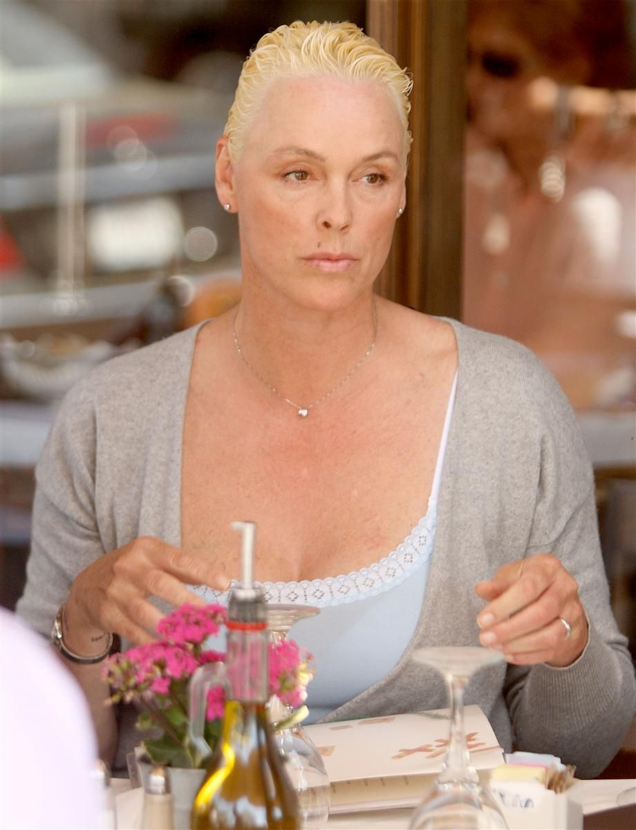 The 54-year old daughter of father Svend Nielsen and mother Hanne Nielsen, 185 cm tall Brigitte Nielsen in 2018 photo
