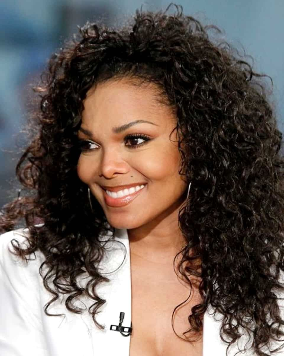 Janet Jackson Deep Curly Custom Celebrity Lace Wig Lace Frenzy Wigs Curly Hair Styles Hair Styles Hair Beauty
