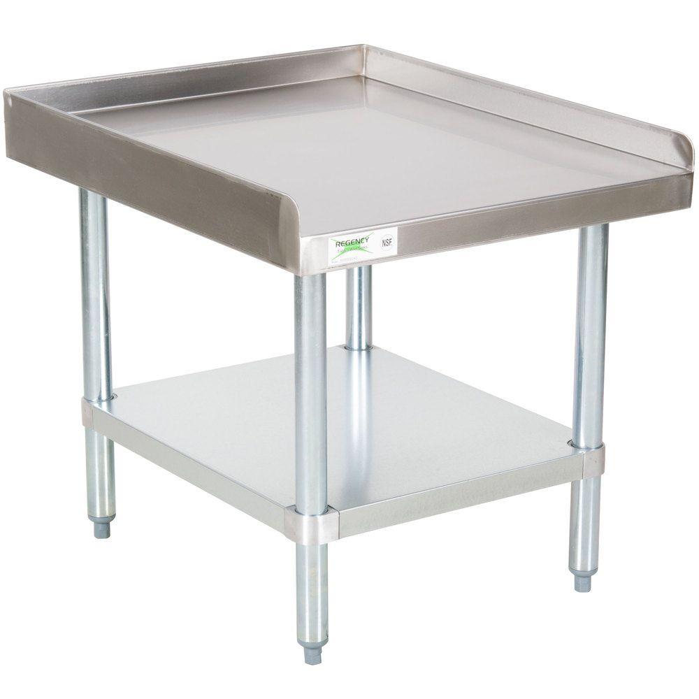 Regency X Gauge Stainless Steel Equipment Stand With - 16 gauge stainless steel table
