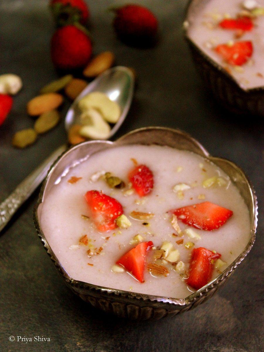 Strawberry phirni recipe recipes indian food recipes and light recipe community forumfinder Images