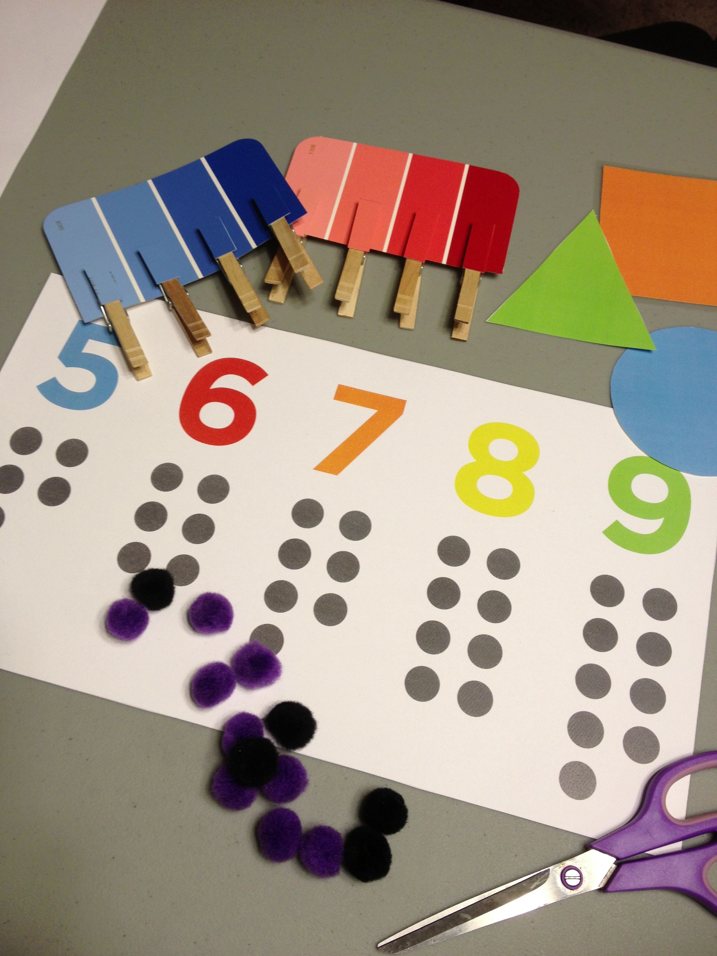 Montessori Activities Color Matching Counting Shapes