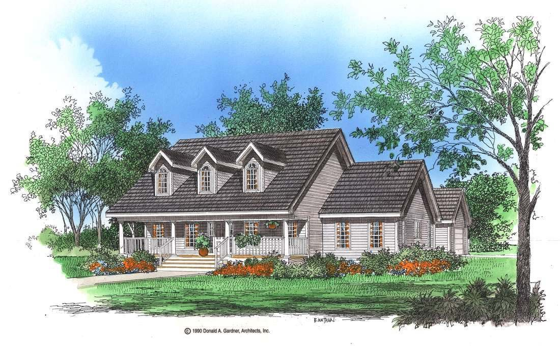 House plan the crestwood by donald a gardner architects for Donald a gardner architects