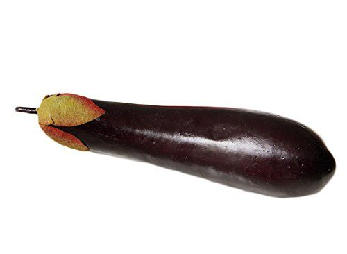 ALEEMY Artificial short eggplant Decoration Vegetable * This is an Amazon Affiliate link. Click image for more details.