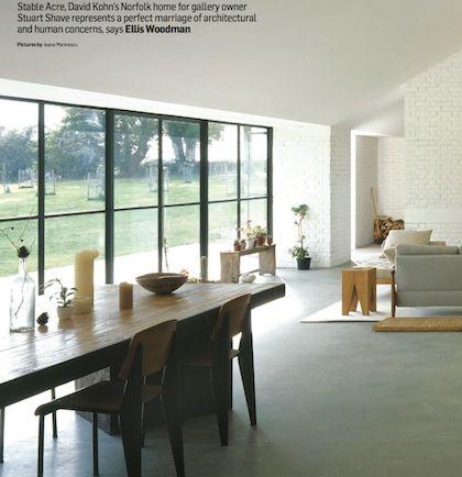 living room, concrete floor