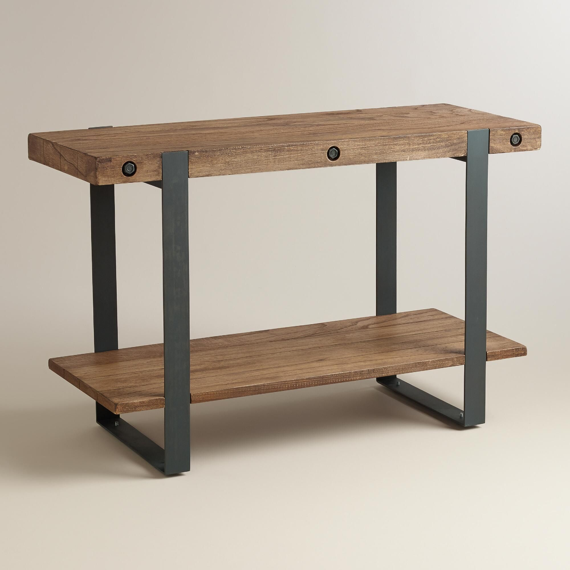 Rustic skylar console table console tables consoles and rustic skylar console table geotapseo Images