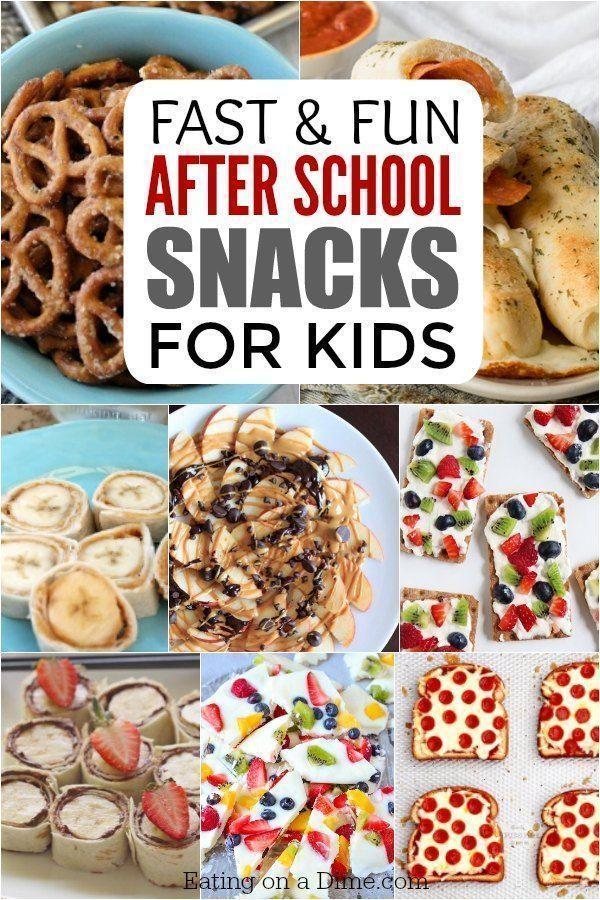 After School Snacks for Kids - 25 Fun AFter School Snacks