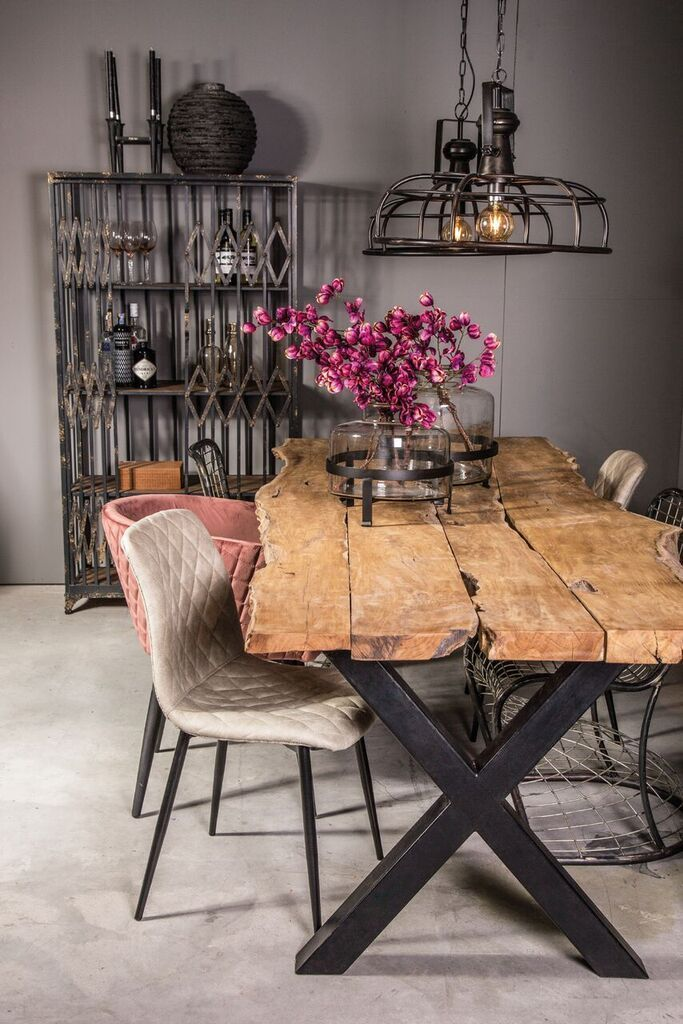 Photo of Rustic Industrial Live Edge Dining Table – Limited Abode – d…