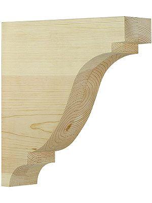 Wood Bracket. Large Pine Colonial Corbel 11 1/2\