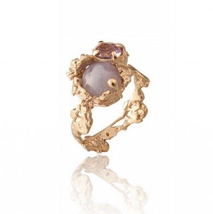 """Moon"" ring by Cristina Zazo - Covet Chic"
