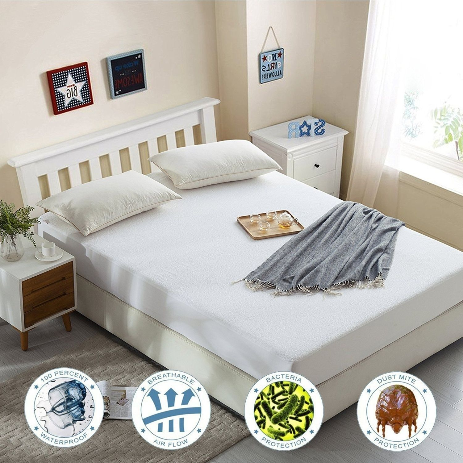 King Size Mattress Protector 100 Waterproof Breathable