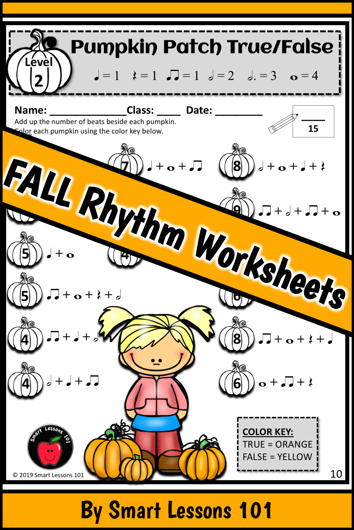 Fall Rhythm Worksheets Fall Music Activities Music