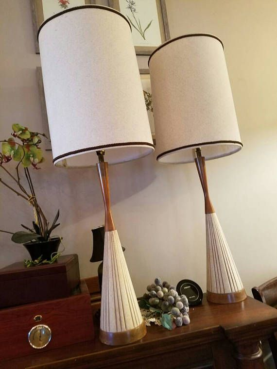 Vintage Table Lamps Pair Of Lamps Mid Century Modern Table Lamps