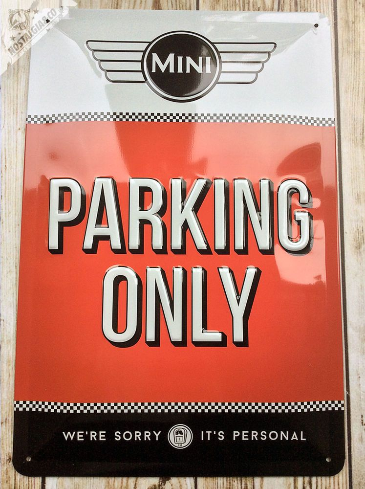 Beautiful Mini Parking Only Embossed Wall Tin Sign Car Gift - Bmw parking only signs
