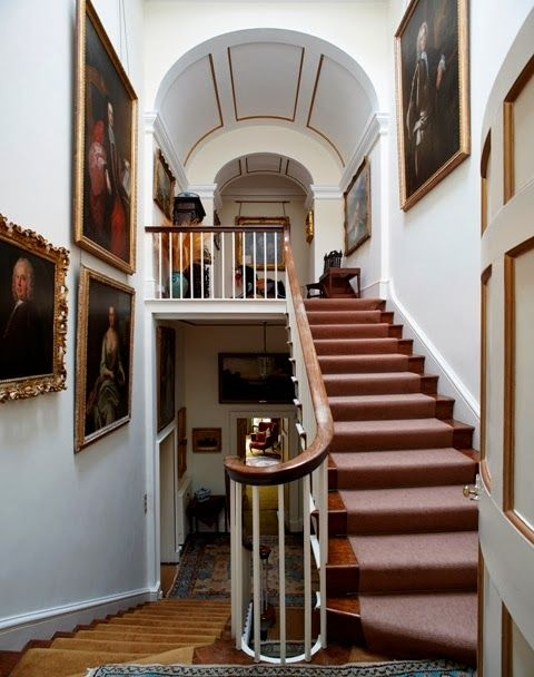 House Foyer Uk : Staircase trewithen house uk stairs pinterest