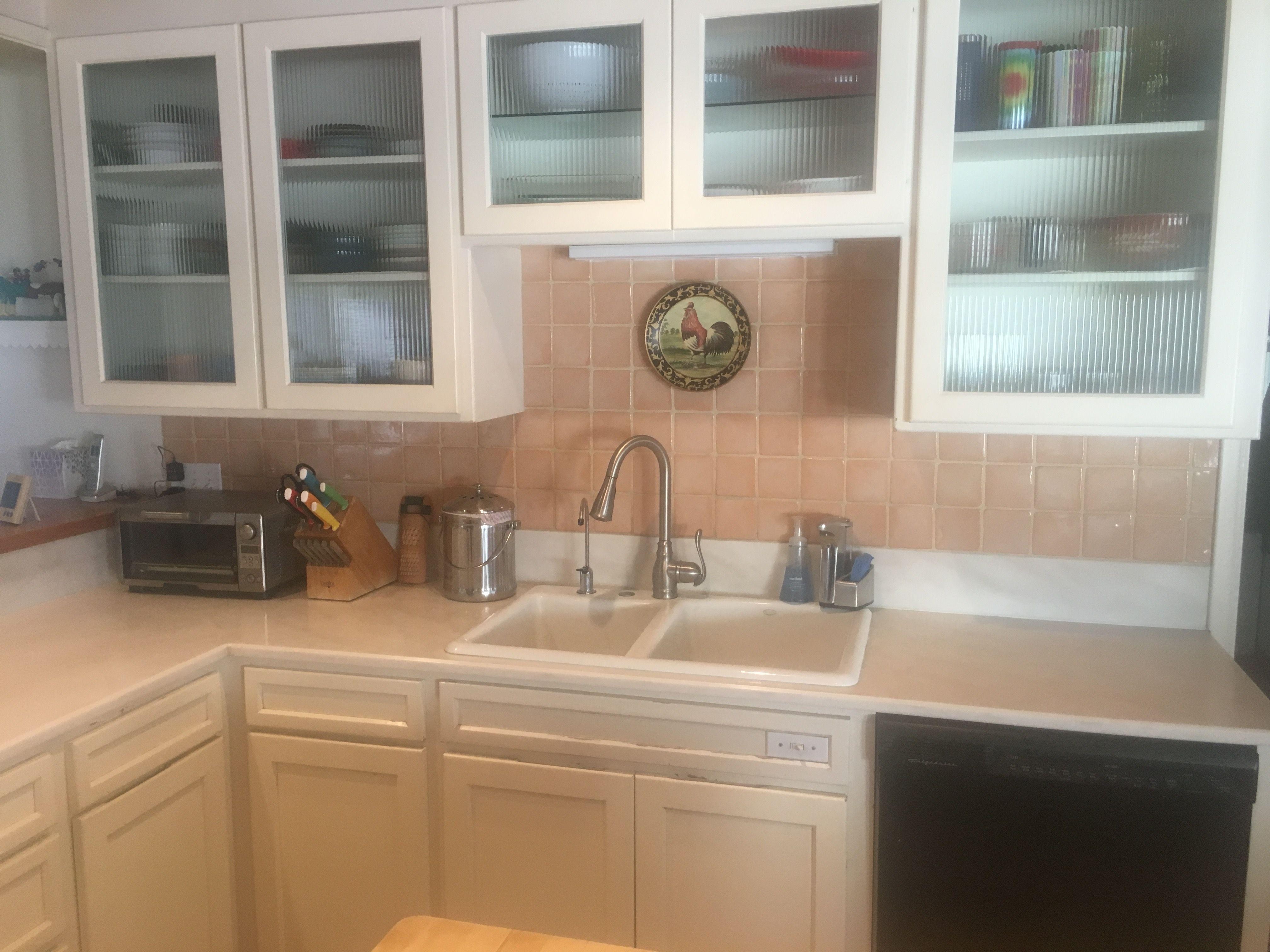 our kitchen sink area & our kitchen sink area | Backsplash | Pinterest | Kitchen white ...