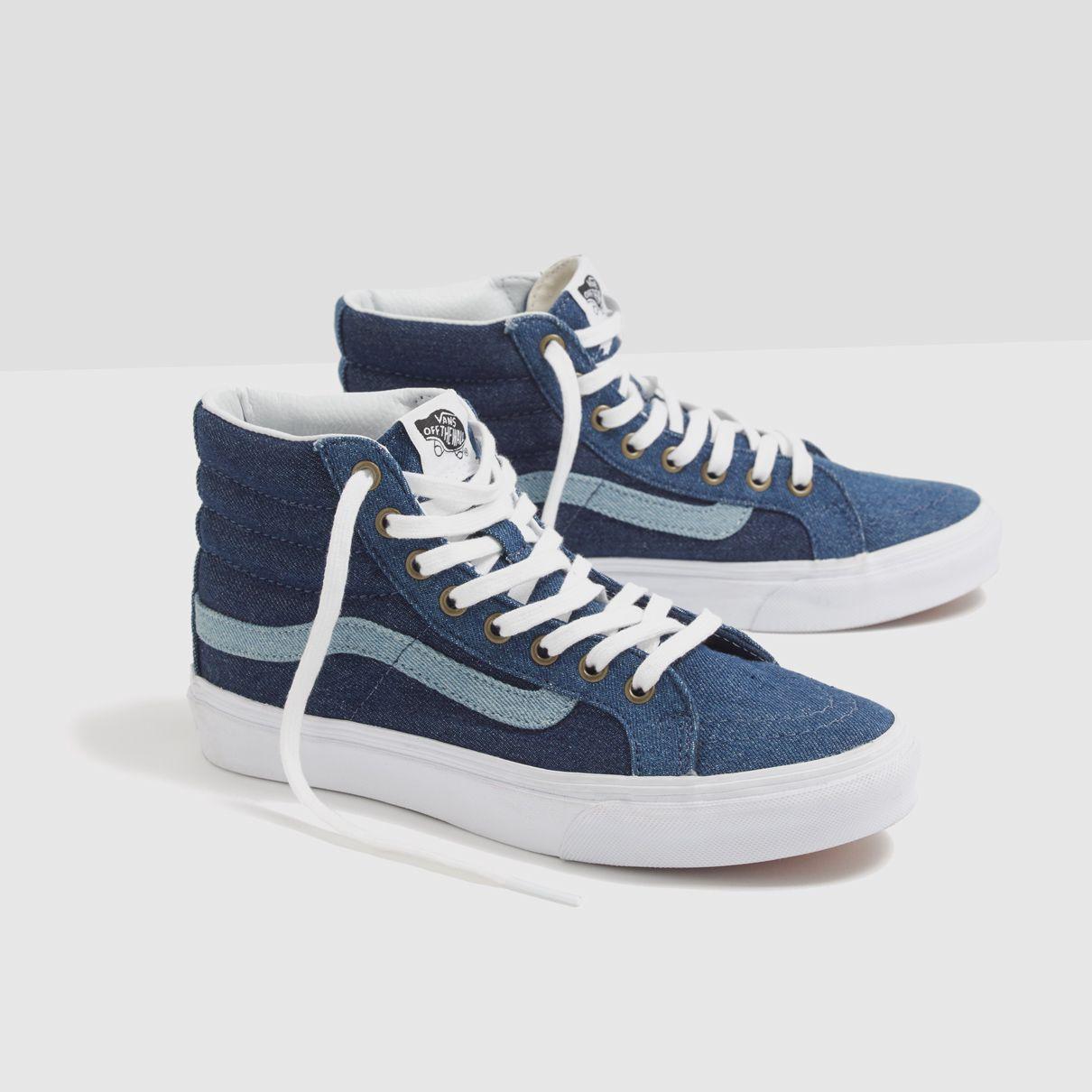 Madewell x Vans® Sk8-Hi Slim High-Top Sneakers in Denim