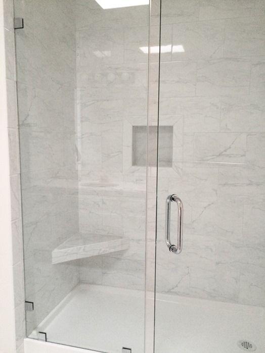 Grandma S Walk In Shower Centsational Style Frameless Shower Doors Bathrooms Remodel Shower Remodel