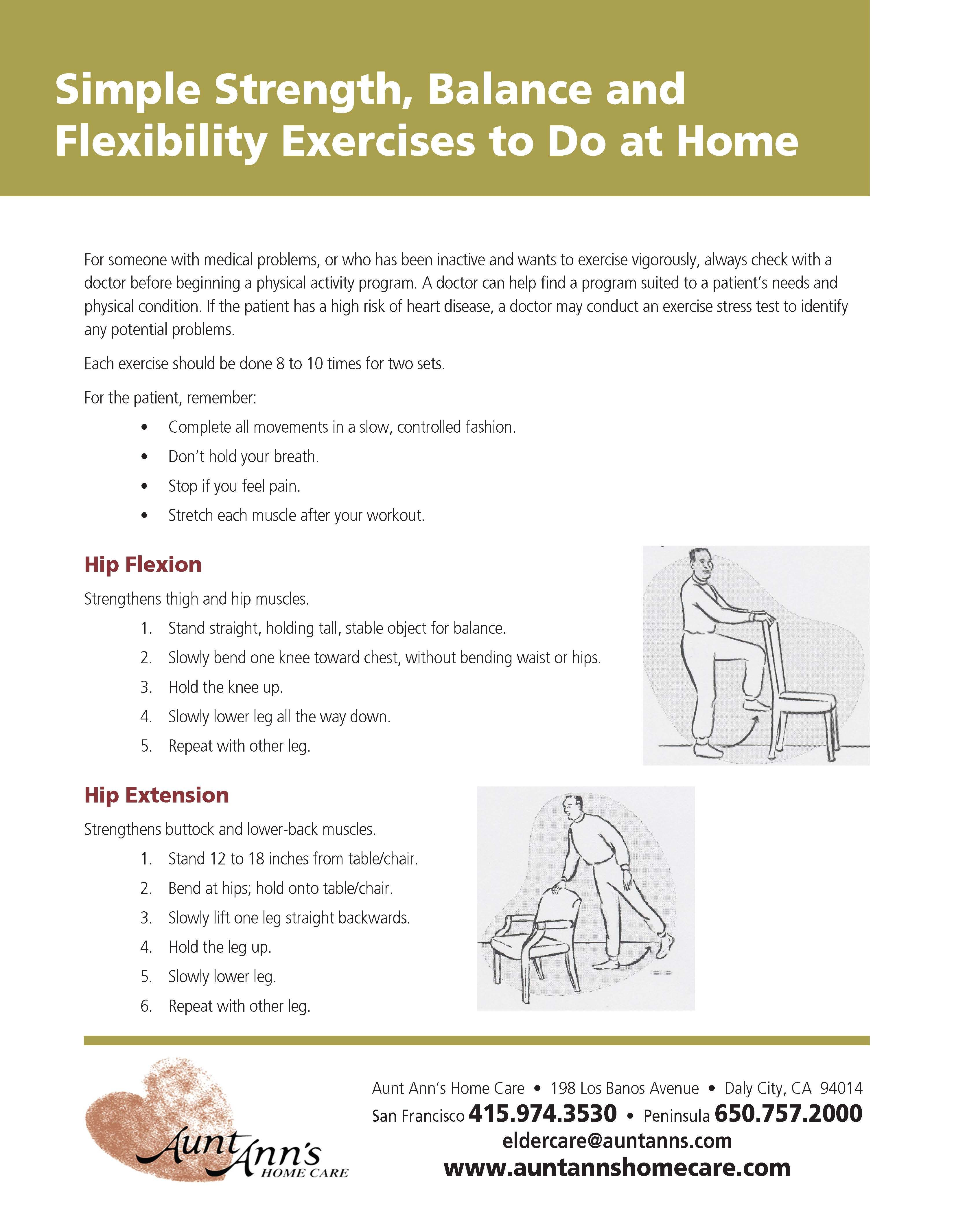 Simple Strength, Balance, and Flexibility Exercise to Do at Home ...