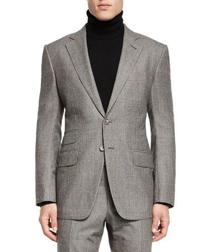 b4bcf1c370a3b2 TOM FORD O Connor Base Windowpane Two-Piece Suit, Ivory Black.  tomford   cloth