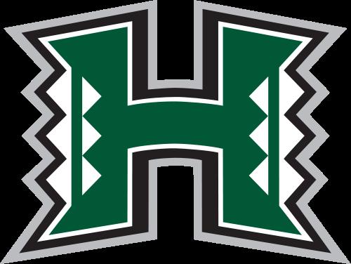 Uh Hawaii Warriors Football Team Logo Hawaii Rainbow Warriors University Of Hawaii College Football Logos