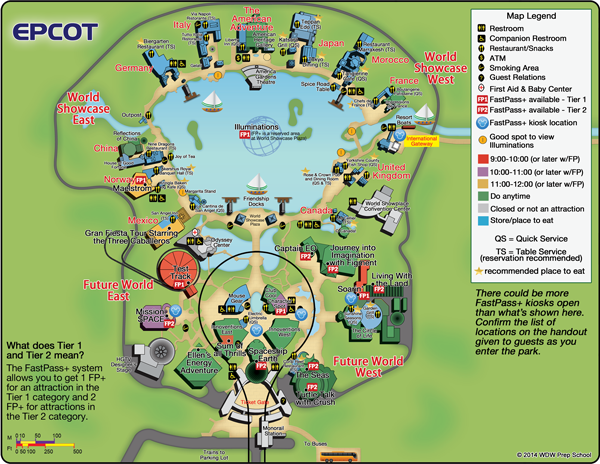 Epcot Rides Map Guide to all Epcot rides and attractions | Disney | Epcot