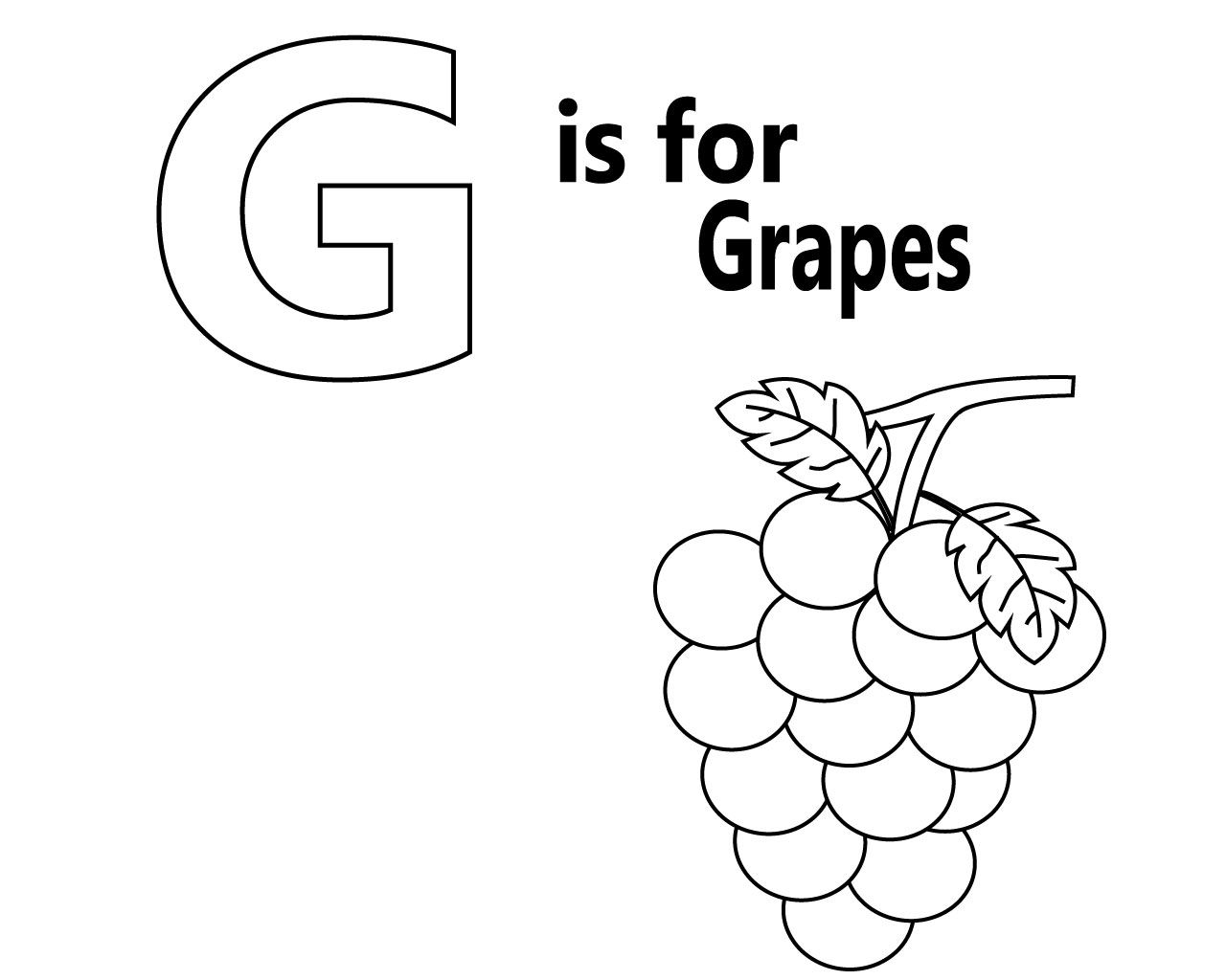 Letter G Coloring Pages For Toddlers