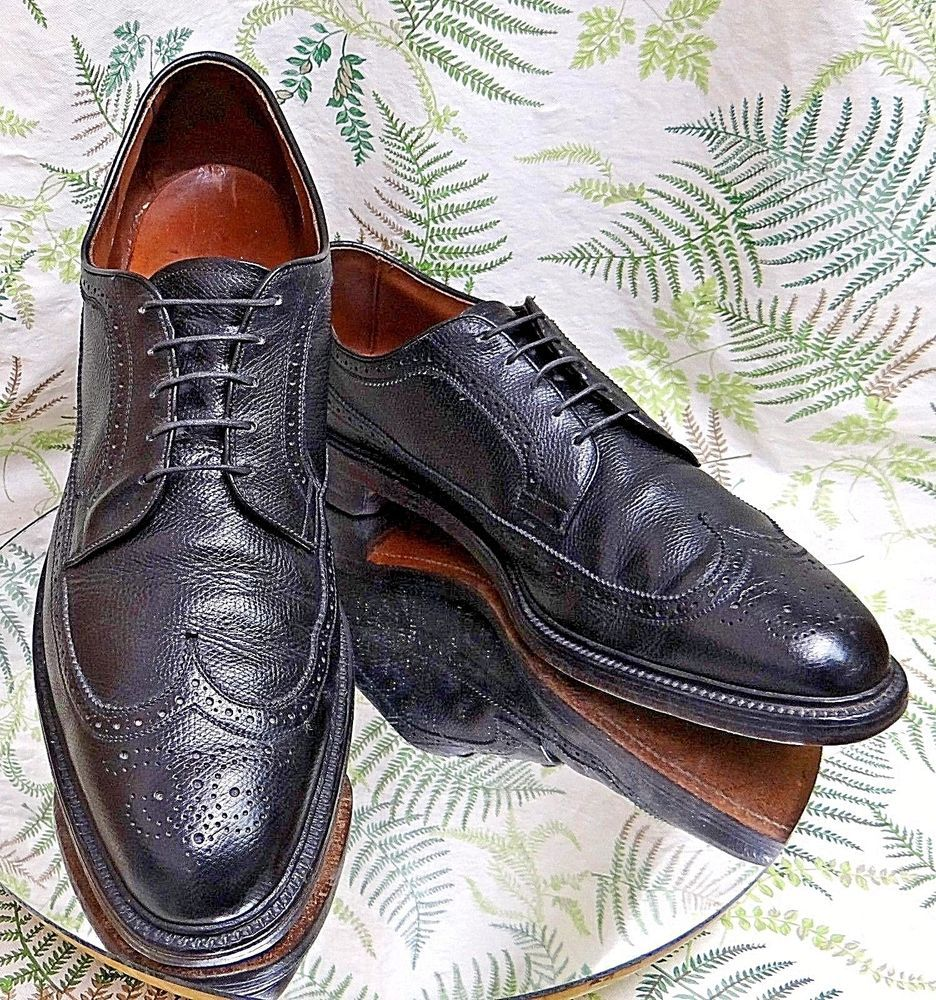 Allen Edmonds MacNeil Brown Leather Wing Tip Oxford Shoes Sz 11.5 C