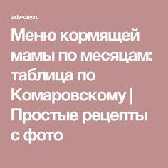 9dfed17ce4a676 Меню кормящей мамы по месяцам: таблица по Комаровскому | Простые рецепты с  фото