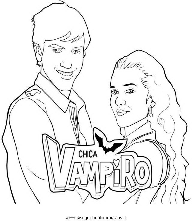 Coloriage Chica Vampiro Vampiros Chicas Y Imprimir Sobres