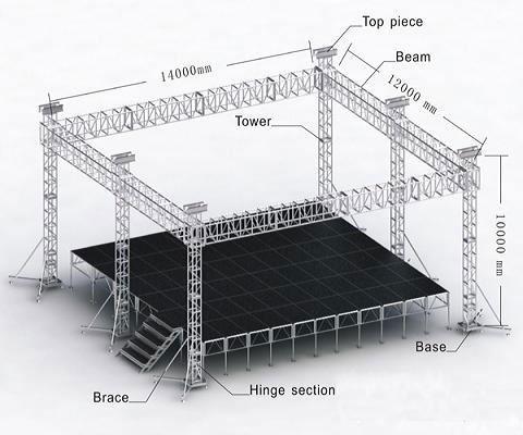 Outdoor Or Indoor Lighting Aluminum Truss System View
