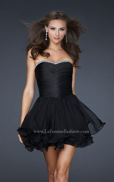 Black Short Prom Dresses, Short Black Homecoming Dress, Cocktail ...