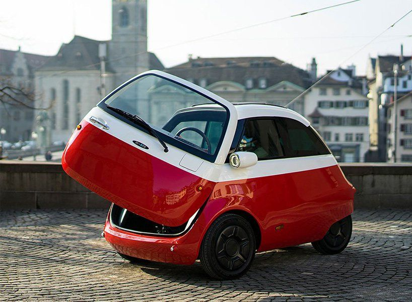 Small Electric Microlino Car Soon To Be Driving Along European