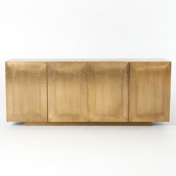 Freda Brass Clad Wrapped Industrial Buffet Sideboard (€1.735 ...